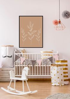 Get inspired by our baby girl room ideas and bring your little one home to a nursery filled with personality. Browse themes, colors, themes, nursery wall art, and décor ideas. These cute baby girl room ideas might help you decorate it. Nursery Room Decor, Nursery Design, Girl Nursery, Girl Room, Baby Room, Nursery Ideas, Kids Watercolor, Interior Desing, Nursery Neutral