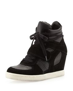 Cool Suede Wedge Sneaker, Black by Ash at Neiman Marcus Last Call.