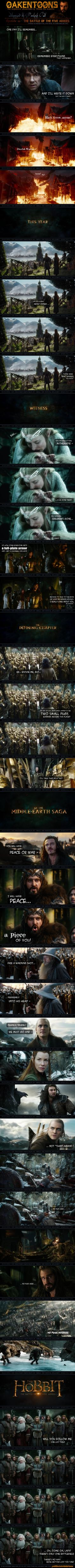 "This just got better as it went on. Haha! Gotta love the new ""Battle of the Five Armies"" trailer."