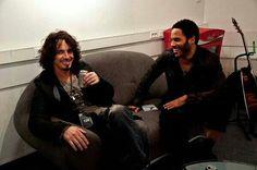 Chris Cornell & Lenny Kravitz backstage 2009
