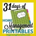 31 Days of Home Management Binder Printables