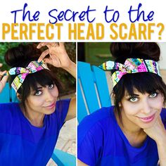 Secret to the Perfect Head Scarf? The secret to the Perfect Head Scarf? Such a quick, easy, and cute hairstyle. The secret to the Perfect Head Scarf? Such a quick, easy, and cute hairstyle. Diy Head Scarf, Head Scarf Tutorial, Head Scarfs, Headband Tutorial, Diy Tutorial, Scarf Hairstyles, Hairstyles With Bangs, Summer Hairstyles, Braided Hairstyles