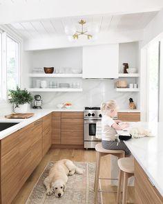 Kitchen island, small space kitchen, kitchen dinning, small spaces, e Kitchen Dinning, Home Decor Kitchen, New Kitchen, Home Kitchens, Kitchen Decorations, Awesome Kitchen, Wooden Kitchen, Kitchen Sink, White Oak Kitchen
