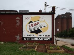 historic st. louis    Lemp Beer Sign at Off Broadway by Old Lemp Brewery - St. Louis, MO