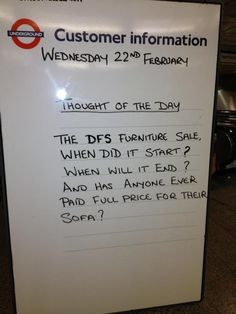 London Underground, noticeboard