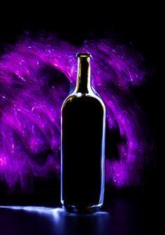 Blueberry nights | light painting, light brush, long exposure, still life, bottle