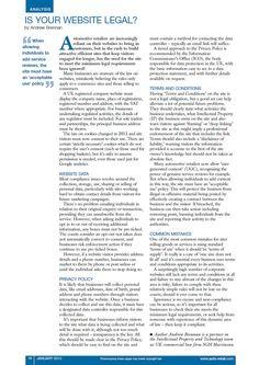 Client: SGH Martineau Outlet: Auto Retail Bulletin Topic: Website Legal (IP)