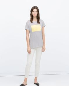 Image 1 of TEXT T-SHIRT from Zara