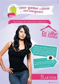 Campanha desenvolvido para o Concurso Cultural De Olho na Moda