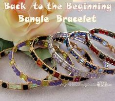 Beginner Bangle Bracelet Wire Wrap Tutorial, Back to the Beginning, Instant Download PDF File, Instructions