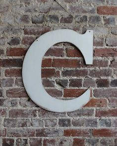 "Letter C For Wall Wooden Wall Letter ""c"" Rustic Distressed In True Red Nursery Decor"