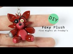 Foxy Plush from Five Nights at Freddy's Polymer Clay Tutorial - YouTube