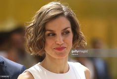 In this handout image supplied by Expo 2015, Queen Letizia of Spain is seen during her visit to Expo 2015 on July 23, 2015 in Milan, Italy.