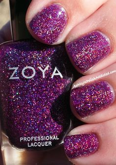 Zoya Aurora (crazy fun purple for my toes) Purple Acrylic Nails, Purple Nail Polish, Zoya Nail Polish, Nails Now, Love Nails, How To Do Nails, 5 Free Nail Polish, Nail Polish Collection, Zoya Collection