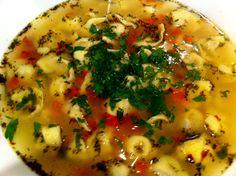 mommon's goosh bareh: spicy minted beef dumpling soup