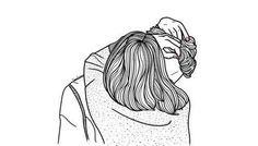 art, boy, couple, cute, drawing, girl, outlines, short hair, tumblr