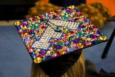 Bedazzled UF Grad cap.