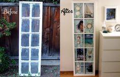 Idea original para decorar una ventana antigua #reciclaje #decoración