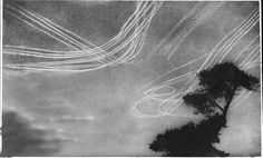 The various aircraft painted these vapour trails which could be seen from the ground as pilots battled for their lives