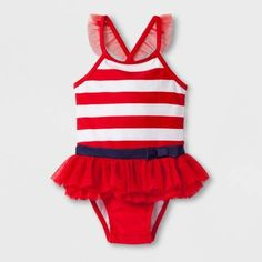 a09c763975 Cat & Jack Baby Girls' Stripe One Piece Swimsuit - Cat & Jack