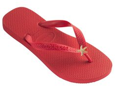 Dini's HAVAIANAS Fashion Jeweled Flip Flops, Crystal Starfish Women's Sandals ** See this great product.