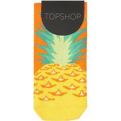 Pineapple Toe Ankle Socks (450 RUB) ❤ liked on Polyvore featuring intimates, hosiery, socks, accessories, tights, socks and tights, orange socks, cotton socks, ankle socks and pineapple socks