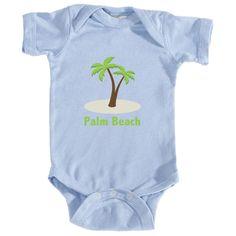 Palm Beach, California Palm Tree - Infant Onesie/Bodysuit