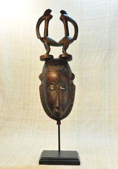 African mask of the Yaure people from the Ivory Coast.