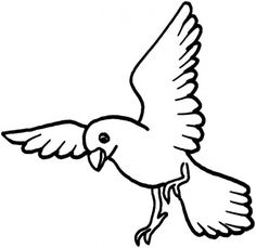 Pigeon Eating Fun Bird Coloring Pages Birds to embroider