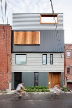 Stacked House by NatureHumaine (Montreal, QC, Canadá) #architecture