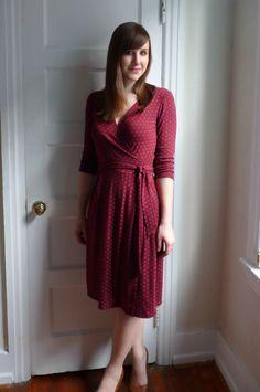 Si j'ai une surjeteuse et même sans, un défi jersey sur une robe cache coeur pour cet hiver? Beau challenge non?