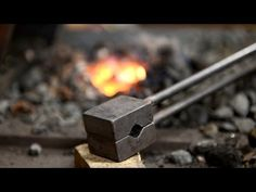 Blacksmithing - Making a spring swage (12mm round dies) - YouTube