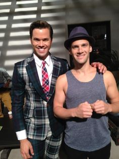 """Brian Collins (Andrew Rannells) & David Bartholomew (Justin Bartha) from """"The New Normal"""" Justin Bartha, Andrew Rannells, Jersey Boys, All Grown Up, The New Normal, Hairspray, Beautiful Men, Fangirl, Musicals"""