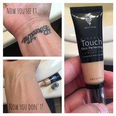 Now you see it, now you don't ! BEST coverage around ! Younique concealer #YouniqueBeauty #TatooCoverUp youniqueproducts.com/JordanQuillen