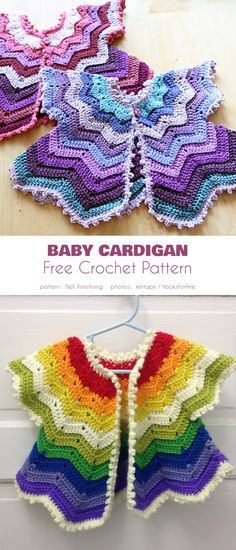 Baby Short-Sleeved Cardi Free Crochet Patterns – Anna is Home Baby Clothes Patterns, Crochet Baby Clothes, Baby Patterns, Clothing Patterns, Crochet Baby Dresses, Dress Patterns, Crochet Girls, Easy Crochet, Baby Outfits