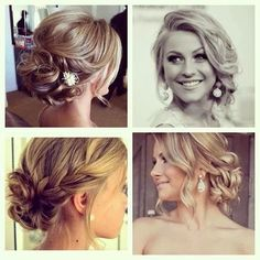 Some simple, but super cute. Updos. Curls.