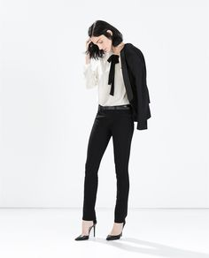 ZARA - WOMAN - STRAIGHT JEANS WITH BELT