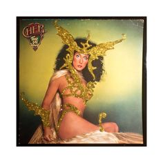 Glittered Cher Take Me Home Album-Bob Mackie sketch come-to-life!