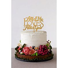 Cake+Topper+Non-personalized+Classic+Couple+Acrylic+Wedding+Flowers+Black+Classic+Theme+1+Gift+Box+–+USD+$+16.00
