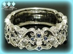 Hey, I found this really awesome Etsy listing at https://www.etsy.com/listing/177282508/vintage-wedding-band-white-gold-fleur-de