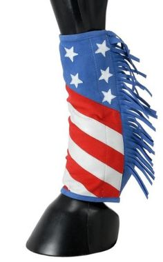 Amazon.com: Sport Boot Covers w/ Fringe STARS / STRIPES - HORSE SIZE: Sports & Outdoors