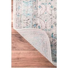 nuLOOM Rio Vintage Aqua 4 ft. x 6 ft. Area Rug-RZBD19A-406 - The Home Depot Aqua Area Rug, Square Rugs, Area Rugs For Sale, Area Rug Sizes, Online Home Decor Stores, Colorful Rugs, Beige, Flourish, Decorating Ideas