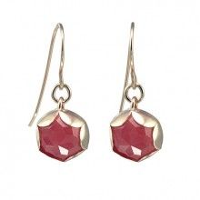 Goldfilled Earrings with Cherryquartz
