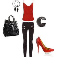 Red Hot, created by katie445 on Polyvore