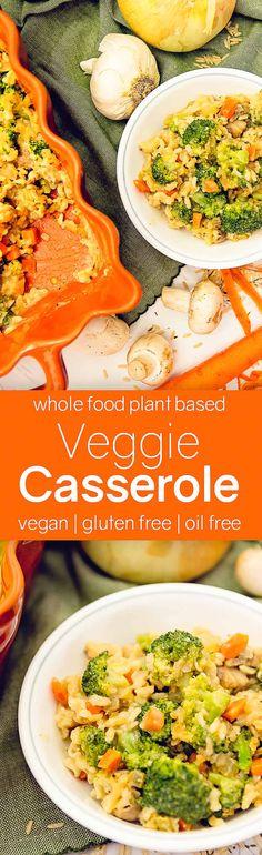 AMAZING Veggie Rice Casserole - Whole Food Plant Based, vegan, gluten free, oil free, refined Vegan Dinner Recipes, Veggie Recipes, Whole Food Recipes, Vegetarian Recipes, Healthy Recipes, Dishes Recipes, Lentil Recipes, Healthy Foods, Healthy Eating