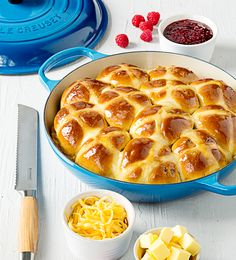 Once you've tasted these easy hot cross buns you will never resort to the shop-bought versions again – and you will love the wonderful fragrance that fills your home as they bake.
