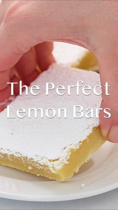 The Perfect Lemon Bar Recipe - These have the most delicious buttery shortbread crust and the most delicious lemon filling. These are perfect for lemon lovers! #lemon #lemondessert #lemonbars #shortbread #summer #summerrecipes #summerdesserts #desserts #dessertfoodrecipes #dessertrecipes #baking #bakingrecipes #recipes #food #foodrecipes #videos #recipevideos #foodvideos #iheartnaptime