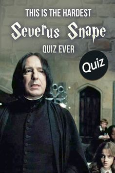 Hogwarts Quiz: Are you an expert on everything Severus Snape? Prove it! Take this wickedly hard trivia quiz all about the Half-Blood Prince that only a TRUE potterhead could pass! Hermione Granger Fanfiction, Snape And Hermione, Harry Potter Quiz, Harry Potter Severus Snape, Alan Rickman Severus Snape, Slytherin Harry Potter, Harry Potter Actors, Hogwarts, Draco Malfoy