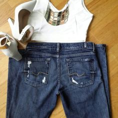 for  All 7 Mankind Josefina jeans Skinny jeans In Execellent condition, size 24 Inseam 28. Seven7 Pants