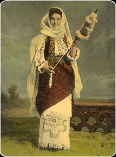 She layeth her hands to the spindle, and her hands hold the distaff. Folk Costume, Costumes, Face Skin Care, My Heritage, Traditional Art, Vintage Outfits, Poster, People, Proverbs 31